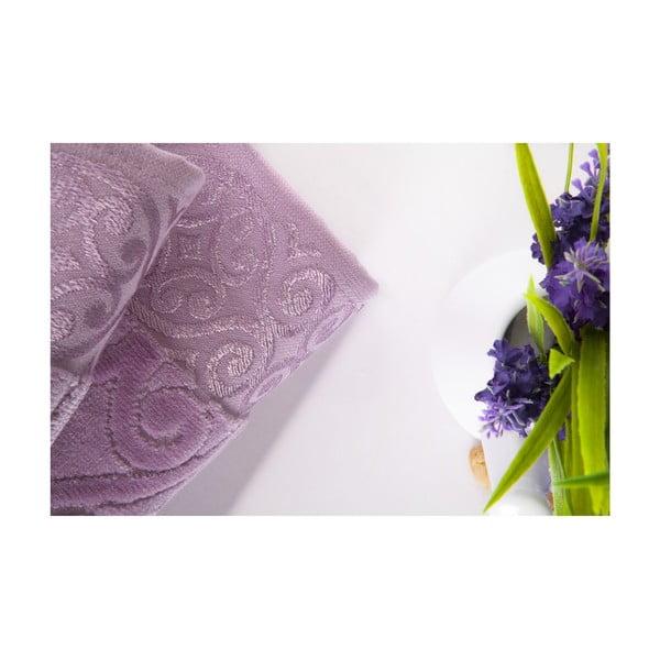 Set dvou ručníků Hanzade Lilac, 70x140 a 50x90 cm