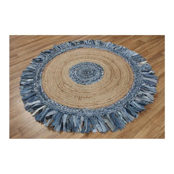 Jutový koberec Eco Rugs Denim, ⌀100cm