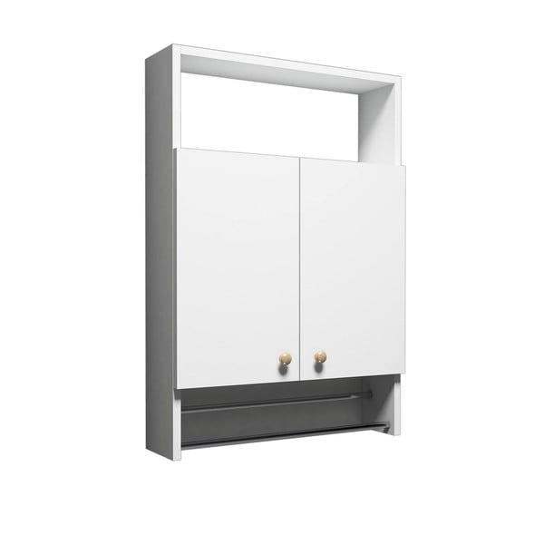 Biela kúpeľňová skrinka s vešiakom na uteráky, Bathroom Cabinet