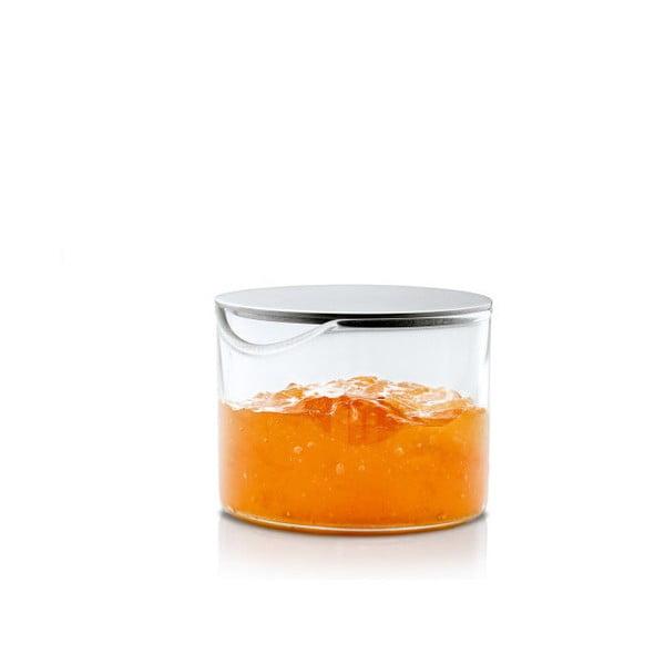 Recipient din sticlă cu capac din oțel inoxidabil Blomus Basic