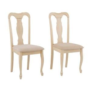 Sada 2 židlí z kaučukového dřeva Støraa Charles