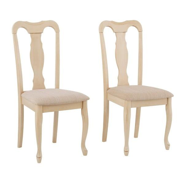 Zestaw 2 krzeseł z drewna kauczukowca Støraa Charles