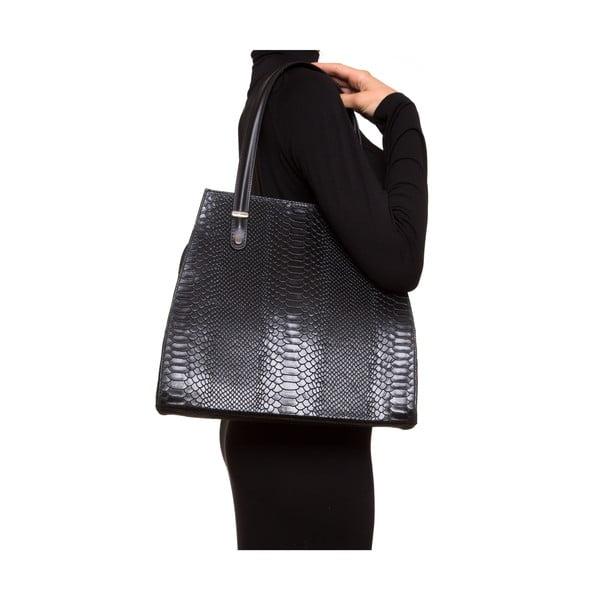 Kožená kabelka Luisa Vannini 8028, černá