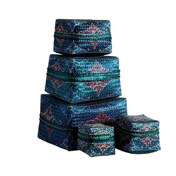 Košíky Bali 5 ks, modré