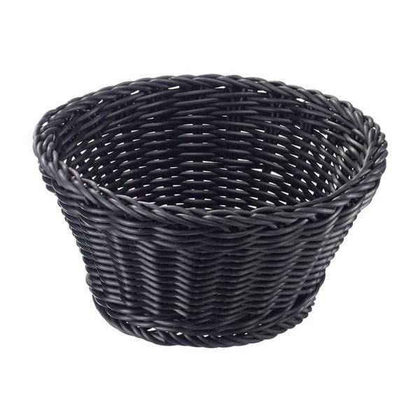 Czarny koszyczek stołowy Saleen, ø 18cm