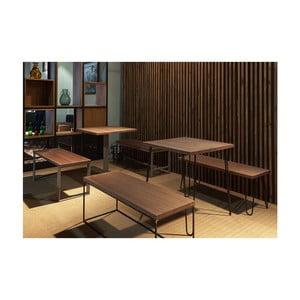 Jídelní stůl s deskou z bukového dřeva indhouse Chicago, 70x70cm