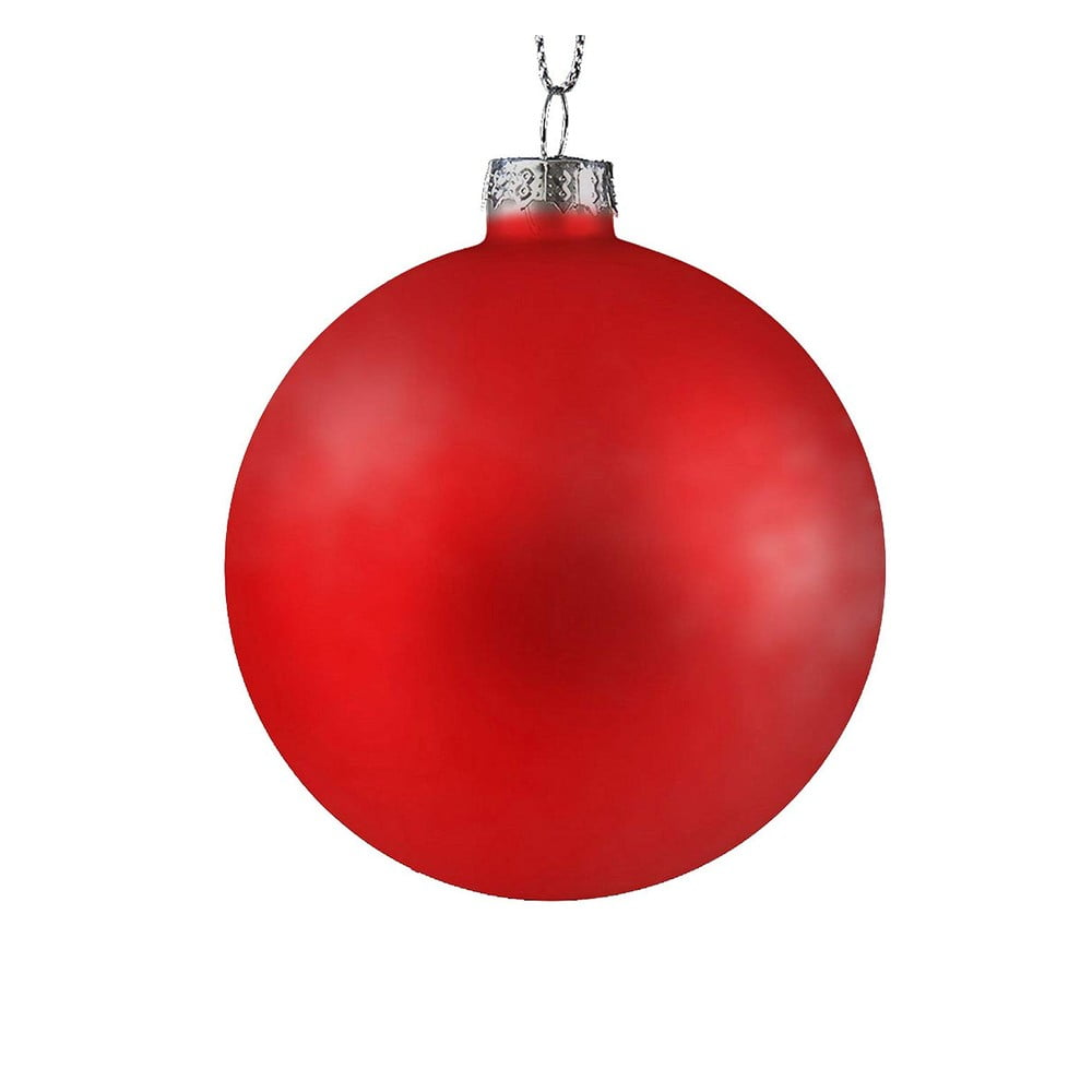 Sada 6 červených plastových vánočních ozdob DecoKing Berry