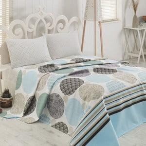Cuvertură de pat din bumbac Sole Beige, 200 x 230 cm