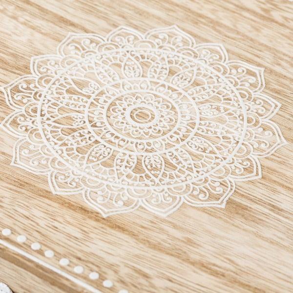 Bílý dřevěný úložný box Unimasa Treasure, 24 x 17 cm