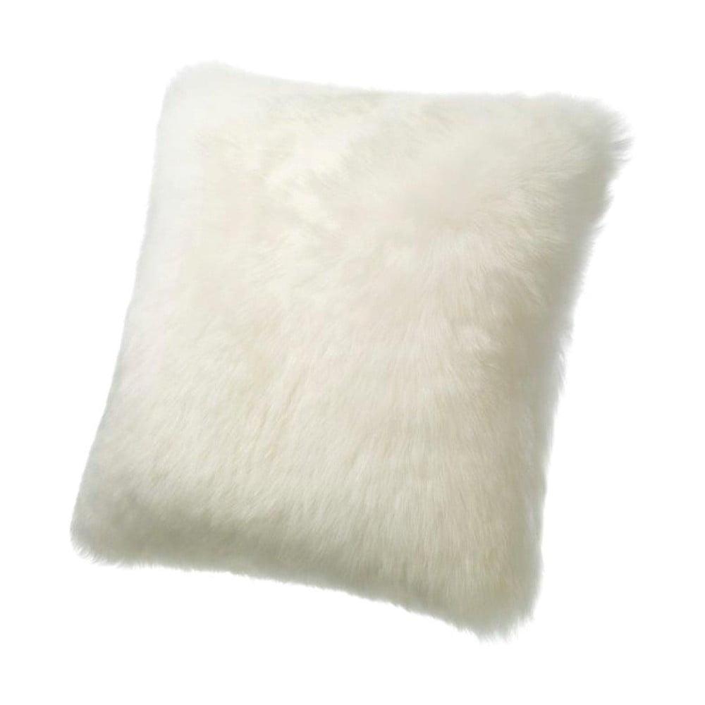 Bílý vlněný polštář z ovčí kožešiny Auskin Erving, 50 x 50 cm