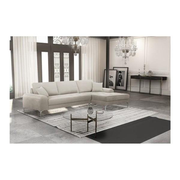 Set canapea crem cu șezlong pe partea dreaptă, 4 scaune roșu cărămiziu și saltea 160 x 200 cm Home Essentials