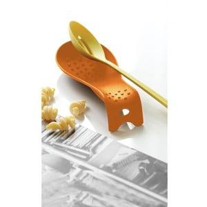 Oranžová lžíce na odkládání vařečky Steel Function Roma