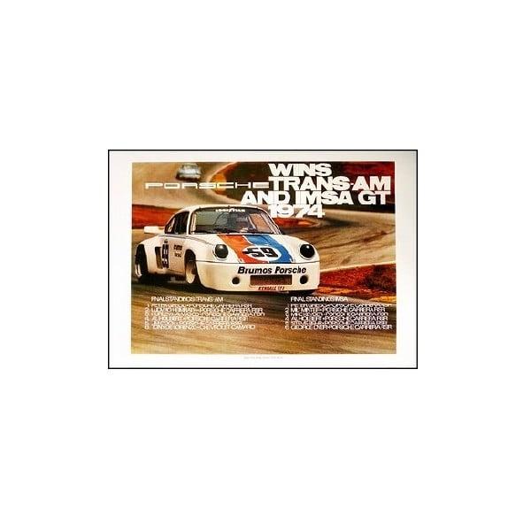 Plakát Porsche Sieg Bei Trans-am Und Imsa Gt 1974, 70x50 cm