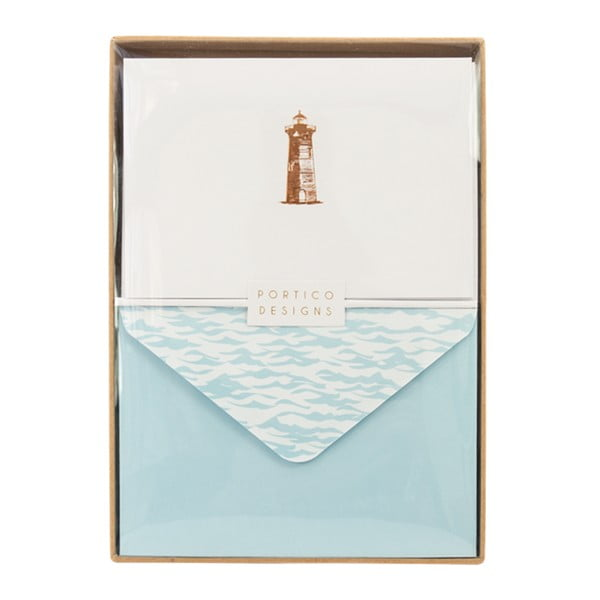 Sada 10 darčekových pohľadníc s obálkami Portico Designs Lighthouse