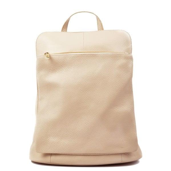 Béžový kožený batoh Isabella Rhea Hurto