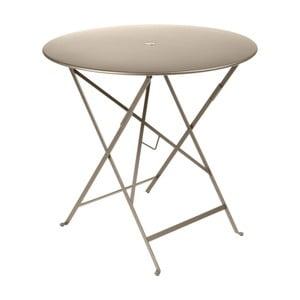 Béžový zahradní stolek Fermob Bistro, Ø 77 cm