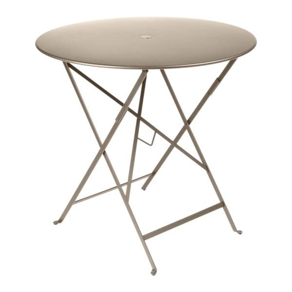 Béžový zahradní stolek Fermob Bistro, ⌀ 77 cm