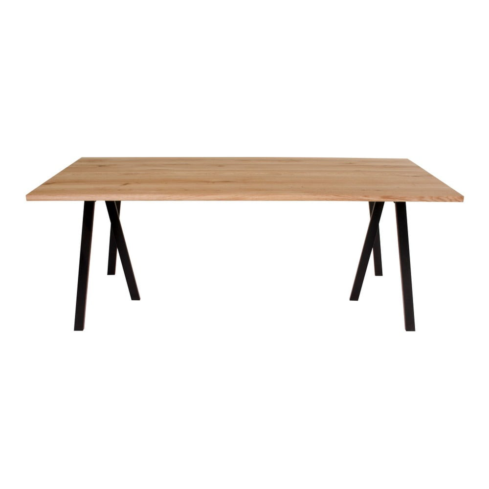 Jídelní stůl s deskou z dubového dřeva House Nordic Nantes,200x95cm