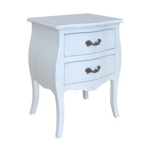 Noční stolek Spruce, bílý