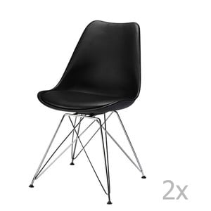 Sada 2 černých židlí Furnhouse Silke
