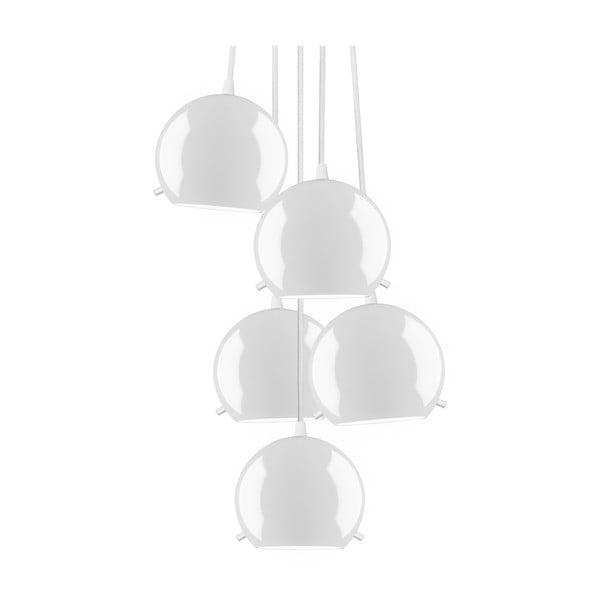 Bílé stropní svítidlo Sotto Luce MYOO Elementary 5BS Glossy