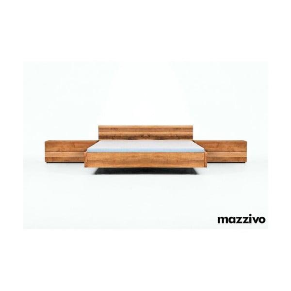 Postel Loop z olšového dřeva, 160x200 cm, natural