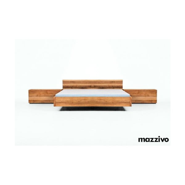 Postel Loop z olšového dřeva, 160x200 cm, bezbarvý vosk