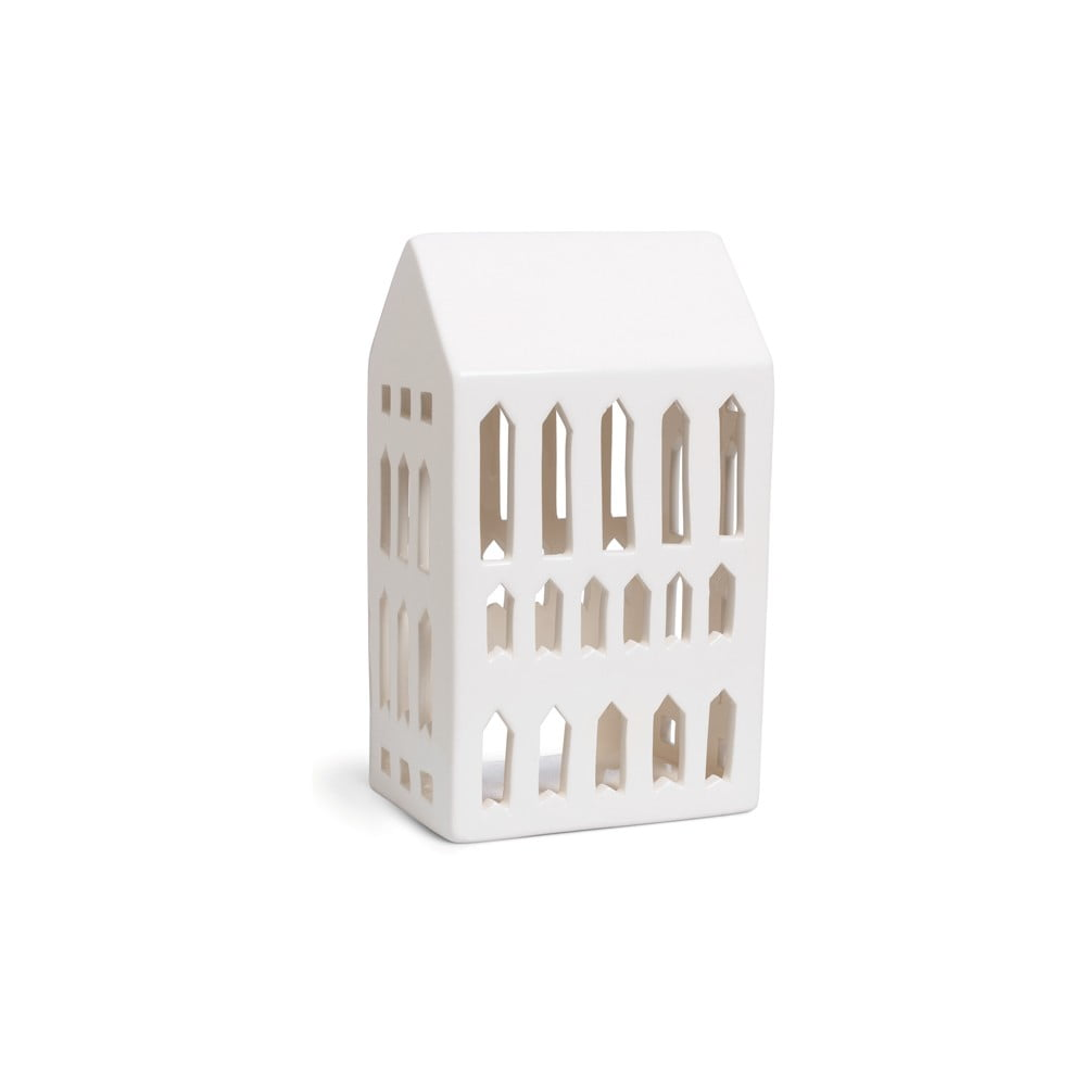 Bílý keramický svícen Kähler Design Urbania Lighthouse Church