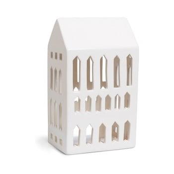 Sfeșnic din ceramică Kähler Design Urbania Lighthouse Church, alb