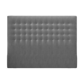 Tăblie pentru pat cu tapițerie de catifea Windsor & Co Sofas Apollo, 200x120cm, gri imagine