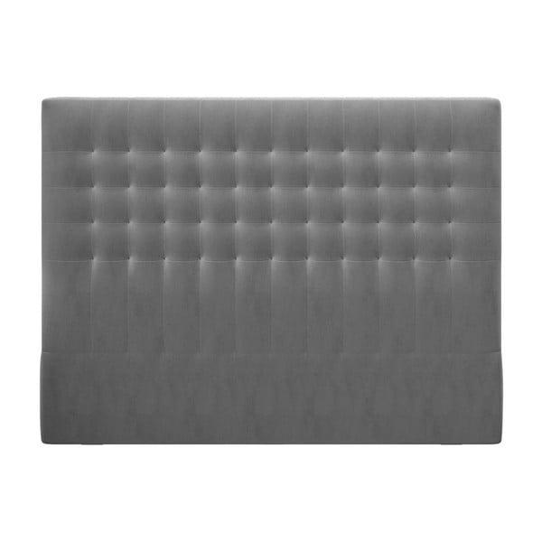 Szary zagłówek z aksamitnym obiciem Windsor & Co Sofas Apollo, 200x120 cm