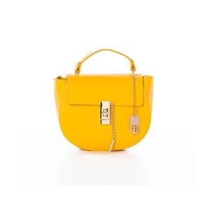 Žlutá kabelka z pravé kůže Federica Bassi Kella