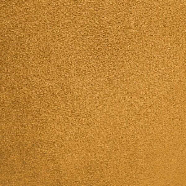 Hořčicově žluté křeslo a podnožka s podnoží v černé barvě Vivonita Cora Velvet