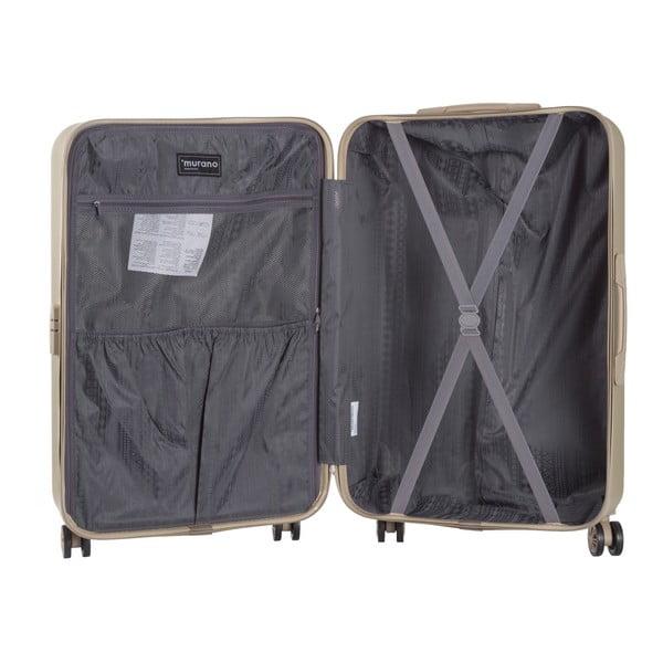 Set kosmetického kufříku a kufru na kolečkách v barvě šampaň Murano Spider