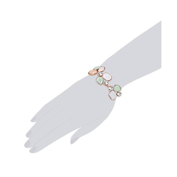 Náramek se Swarovski Elements Stone Orange/Green/White