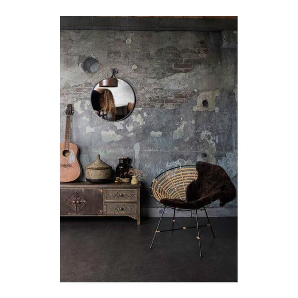 Zrcadlo v černém rámu Dutchbone Attractif, šířka41cm
