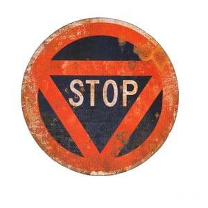 Kovová cedule Stop, 45 cm