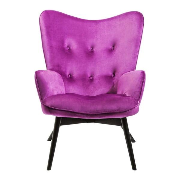 Vicky lila fotel - Kare Design