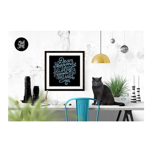 Plakát Dear Karma Blue, 30x30 cm