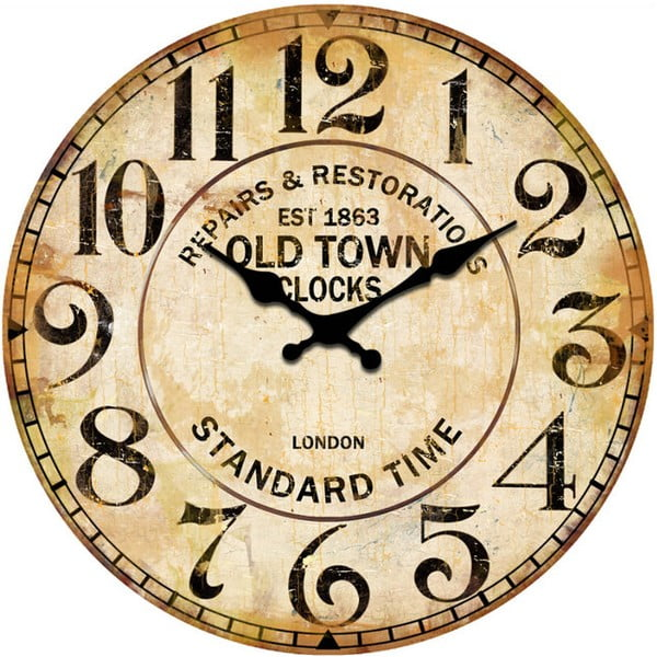 Skleněné hodiny Repair, 34 cm