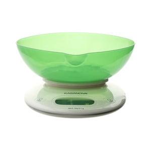Zelená digitální kuchyňská váha Kasanova