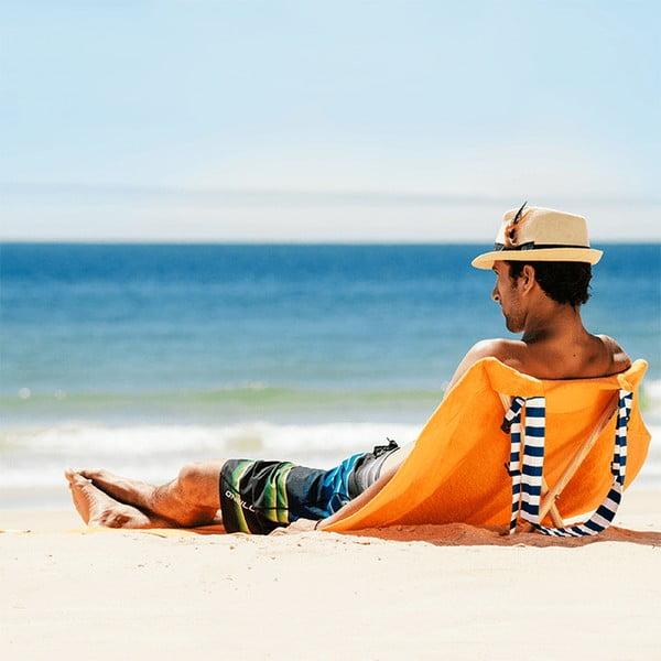 Skládací plážové lehátko a osuška v jednom Sun Seat Carrot