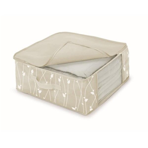 Béžový úložný box na přikrývky Cosatto Leaves, šířka45cm