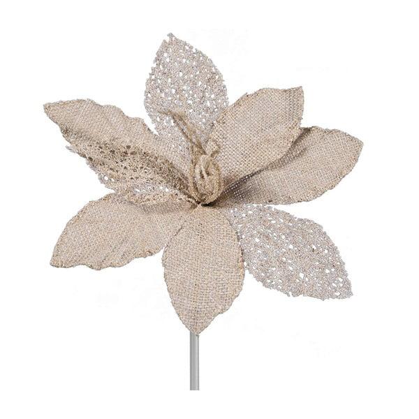 Decorațiune din plastic în formă de floare pentru Crăciun DecoKing Mia, bej - auriu