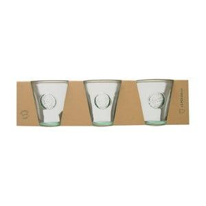 Sada 3 sklenic z recyklovaného skla EgoDekorAuthentic, 250 ml