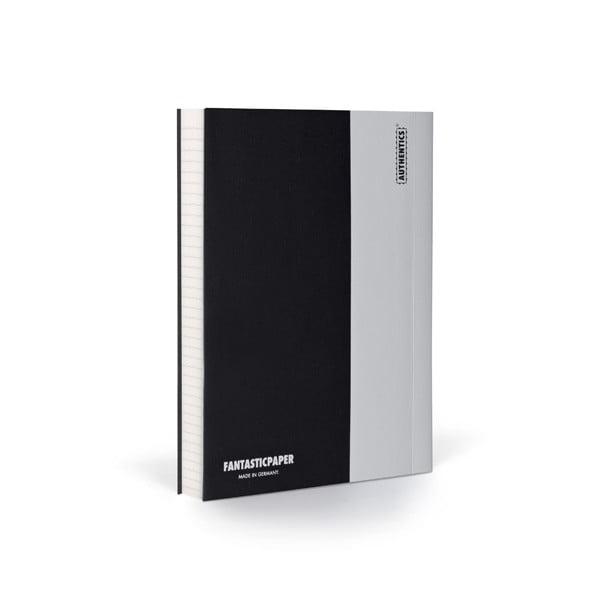 Zápisník FANTASTICPAPER A6 Black/Cool Grey, řádkovaný