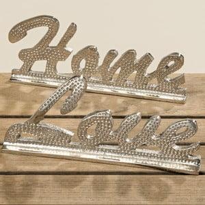 Sada 2 dekorativních nápisů Boltze Home And Love