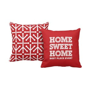 Set 2 polštářů Home Red, 43x43 cm