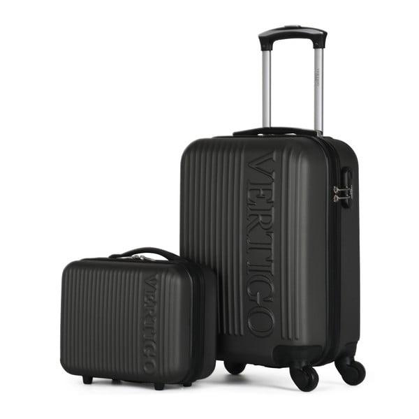 Sada 2 tmavě šedých cestovních kufrů na kolečkách VERTIGO Valises Cabine & Vanity Case