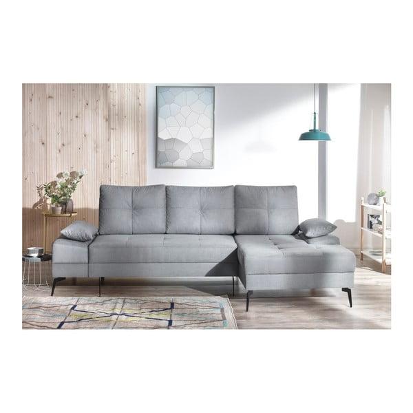 SVEN III szürke kinyitható kanapé, jobb oldali kivitel - Bobochic Paris